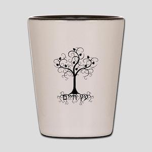 Hebrew Tree of Life Shot Glass