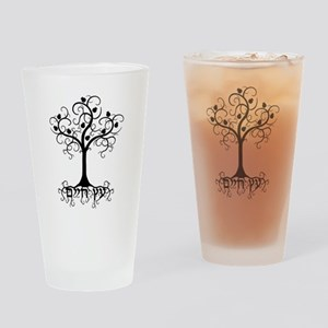 Hebrew Tree of Life Drinking Glass