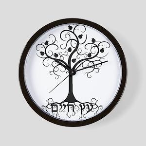 Hebrew Tree of Life Wall Clock