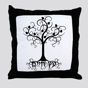 Hebrew Tree of Life Throw Pillow