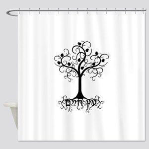 Hebrew Tree of Life Shower Curtain