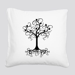 Hebrew Tree of Life Square Canvas Pillow