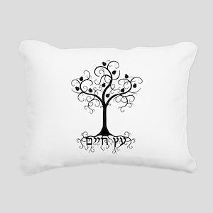 Hebrew Tree of Life Rectangular Canvas Pillow