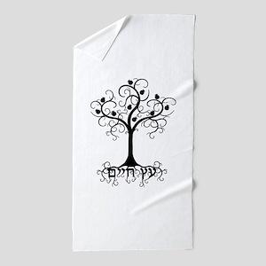 Hebrew Tree of Life Beach Towel