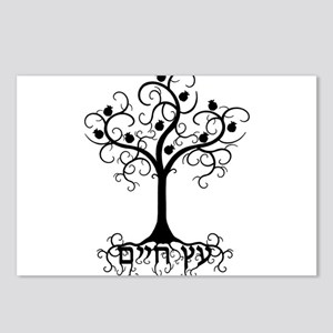Hebrew Tree of Life Postcards (Package of 8)