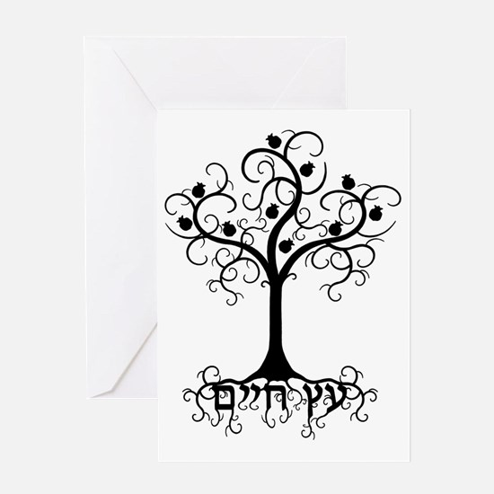 Hebrew Tree of Life Greeting Cards