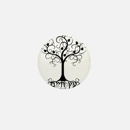 Hebrew Tree of Life Mini Button