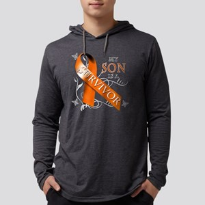 My Son is a Survivor Mens Hooded Shirt