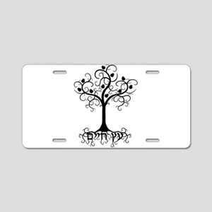 Hebrew Tree of Life Aluminum License Plate