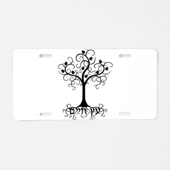 Hebrew Tree of Life Aluminum License Plate