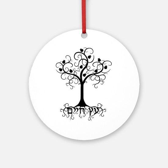 Hebrew Tree of Life Round Ornament