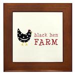 Black Hen Farm Framed Tile