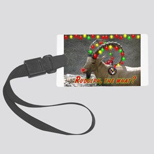 Helaine's Rudolph the What? Large Luggage Tag