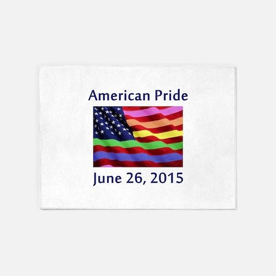 American Pride Flag with SCOTUS Dec 5'x7'Area Rug