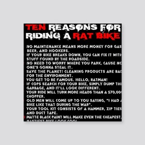 Ten reasons for riding a Rat Bike Square Sticker 3