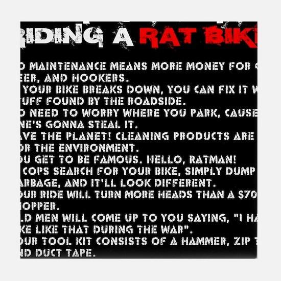 Ten reasons for riding a Rat Bike Tile Coaster