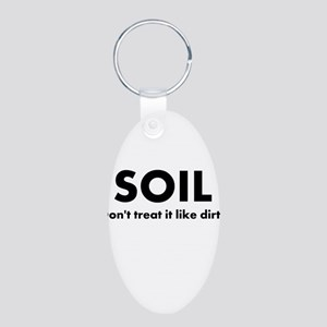 Soil Aluminum Oval Keychain