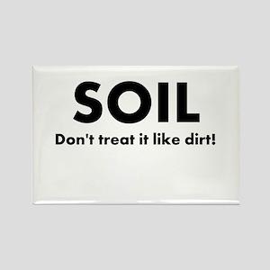 Soil Rectangle Magnet