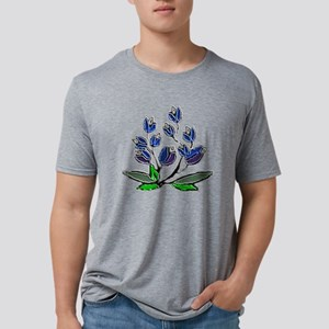 EMBOSSED BLUEBONNETS Mens Tri-blend T-Shirt