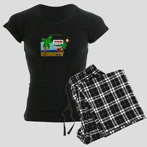 Pirate Santa sez YoHoHo Women's Dark Pajamas