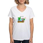 Pirate Santa sez YoHoHo Women's V-Neck T-Shirt