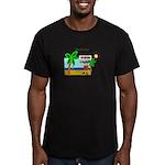 Pirate Santa sez YoHoHo Men's Fitted T-Shirt (dark