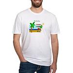 Pirate Santa sez YoHoHo Fitted T-Shirt
