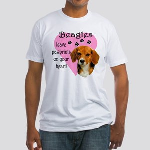 Beagle Pawprints 2 Fitted T-Shirt