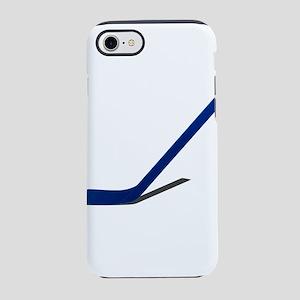 Blue Hockey Stick iPhone 7 Tough Case