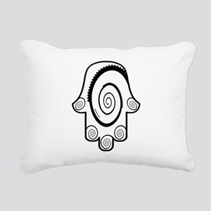 Hamsa Big Swirl Rectangular Canvas Pillow