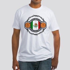 Mexico Basketball Fitted T-Shirt
