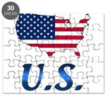 US flag map e1 Puzzle