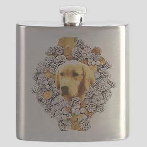 Golden Christmas Flask