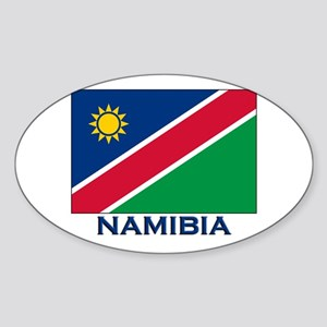 Namibia Flag Merchandise Oval Sticker