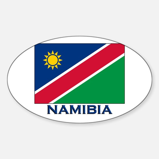 Namibia Flag Merchandise Oval Decal