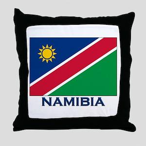 Namibia Flag Merchandise Throw Pillow