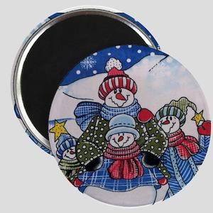 Happy Snowmen Magnet