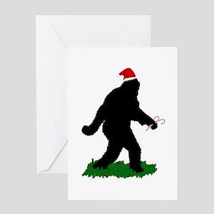 Christmas Squatchin Greeting Card