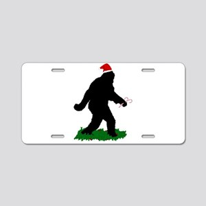 Christmas Squatchin Aluminum License Plate