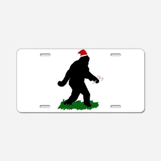 Christmas Squatchin Aluminum License Plate