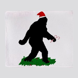 Christmas Squatchin Throw Blanket