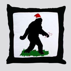 Christmas Squatchin Throw Pillow