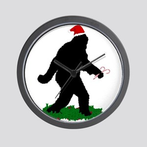 Christmas Squatchin Wall Clock