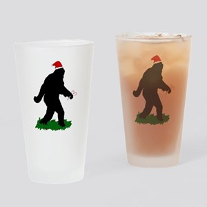 Christmas Squatchin Drinking Glass