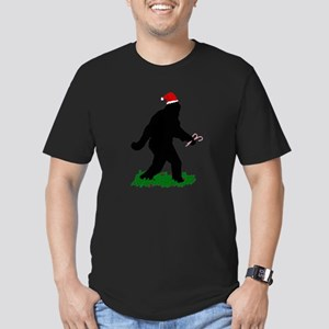 Christmas Squatchin Men's Fitted T-Shirt (dark)