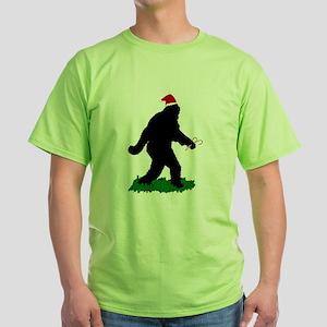 Christmas Squatchin Green T-Shirt