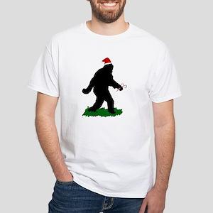 Christmas Squatchin White T-Shirt
