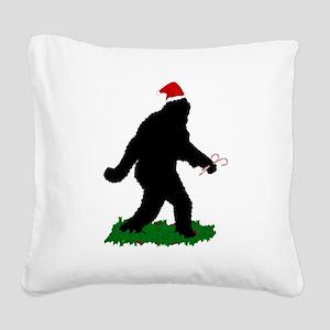 Christmas Squatchin Square Canvas Pillow