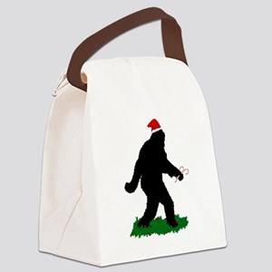Christmas Squatchin Canvas Lunch Bag