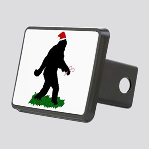 Christmas Squatchin Rectangular Hitch Cover